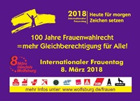 Ankündigung des Internationalen Frauentages 2018