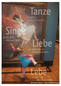 "Plakat zur weltweiten Aktion ""One Billion Rising"""