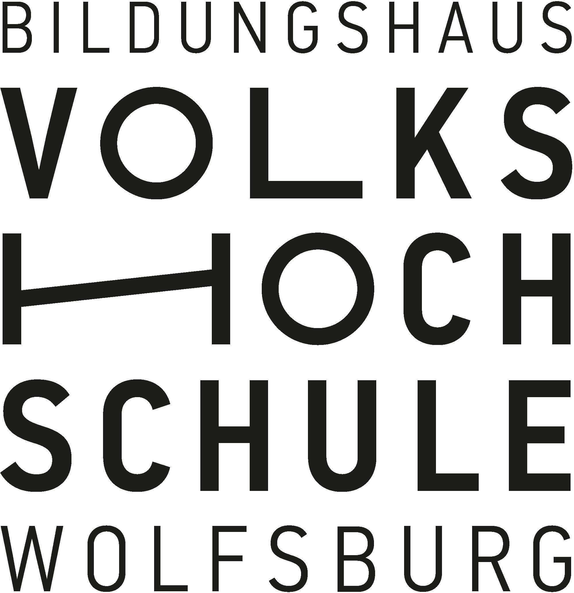 Das Logo der Volkshochschule Wolfsburg