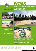 Plakat des Wheelchair Scating Workshops 2017